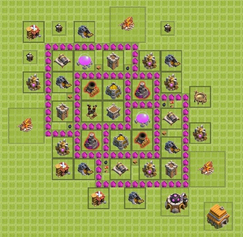Wall Design For Town Hall 6 : Farming gold farm